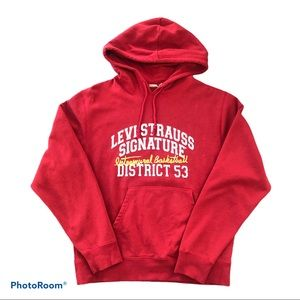 Levi Strauss Signature Red Men's Pullover Hoodie